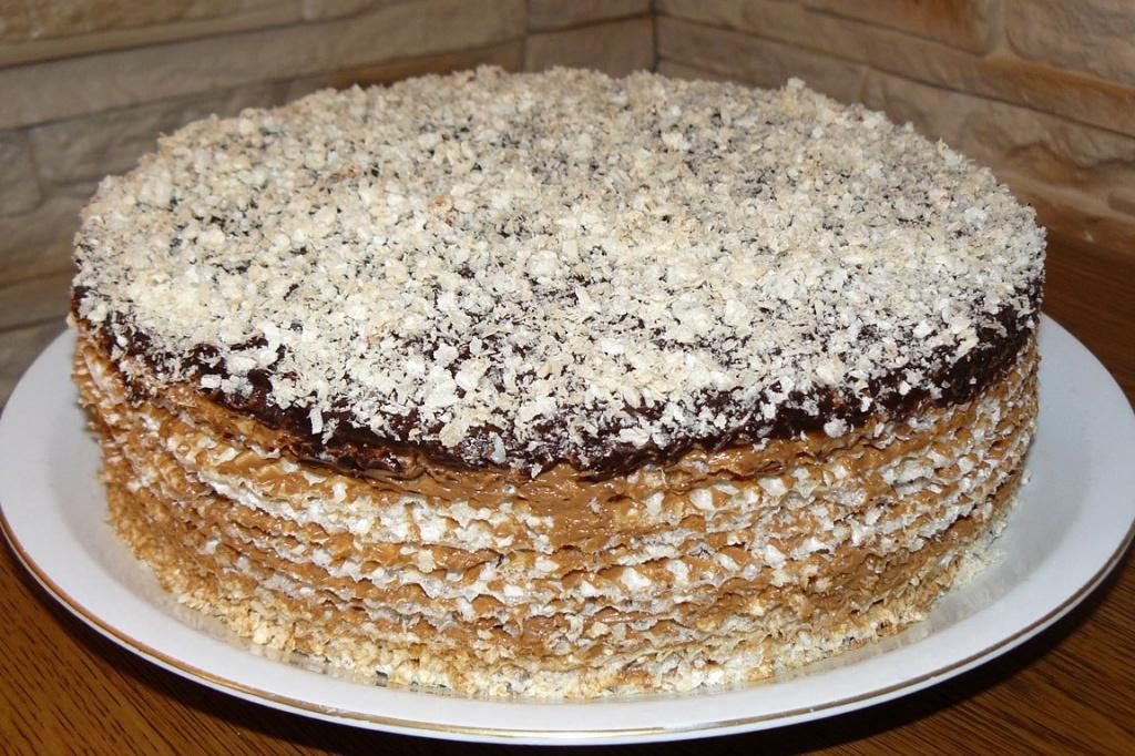 Вафельный торт, рецепт